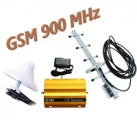 GSM усилитель сигнала мобильной связи, оптимальный комплект